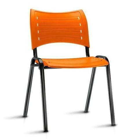 Cadeira fixa empilhável polipropileno colorido modelo Iso à vista dinheiro - Foto 4