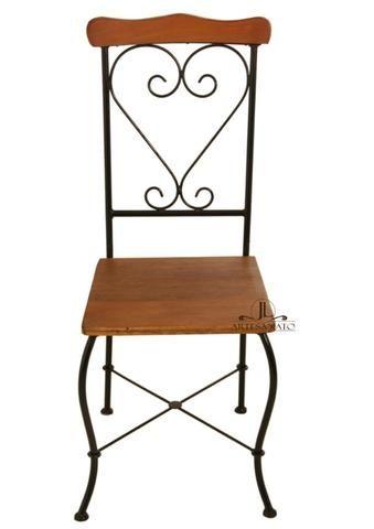 Cadeira de Jantar Ferro e Madeira - Foto 5