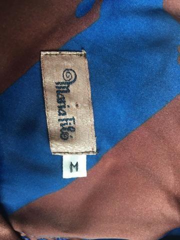 Vestido azul e marrom - Foto 3