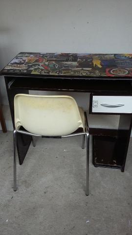 Mesa de computador mais cadeira - Foto 2