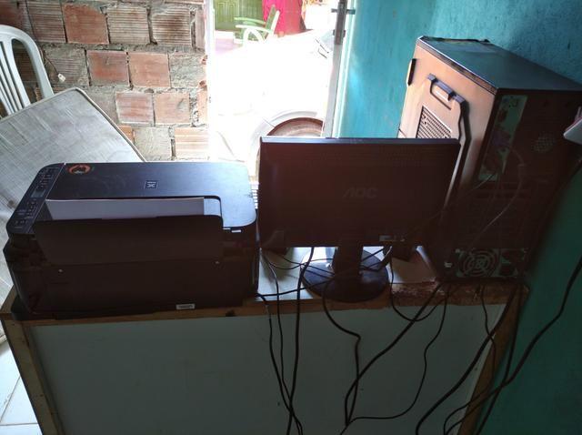 Vendo computador com impressora
