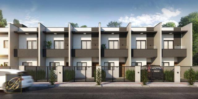 Sobrado com 2 dormitórios à venda, 66 m² por R$ 190.000 - Jardim Iririú - Joinville/SC