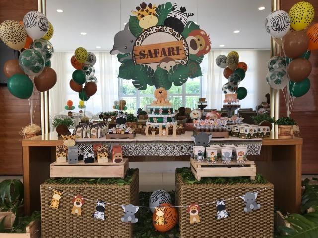 8c01b4bb3540 Decoração festa infantil SAFÁRI - itens seminovos da Marca Cromus Festas,  perfeito estado!