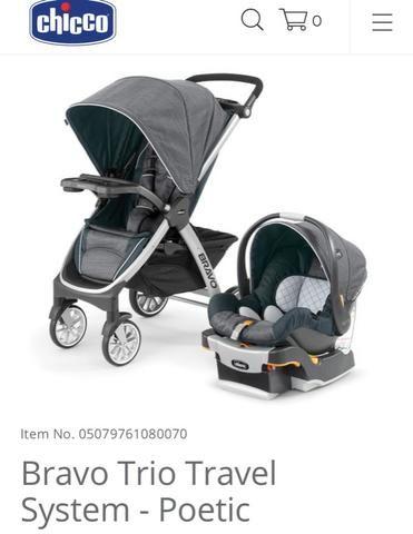ac803d50f Carrinho e bebê conforto Chicco Bravo trio System - Artigos infantis ...