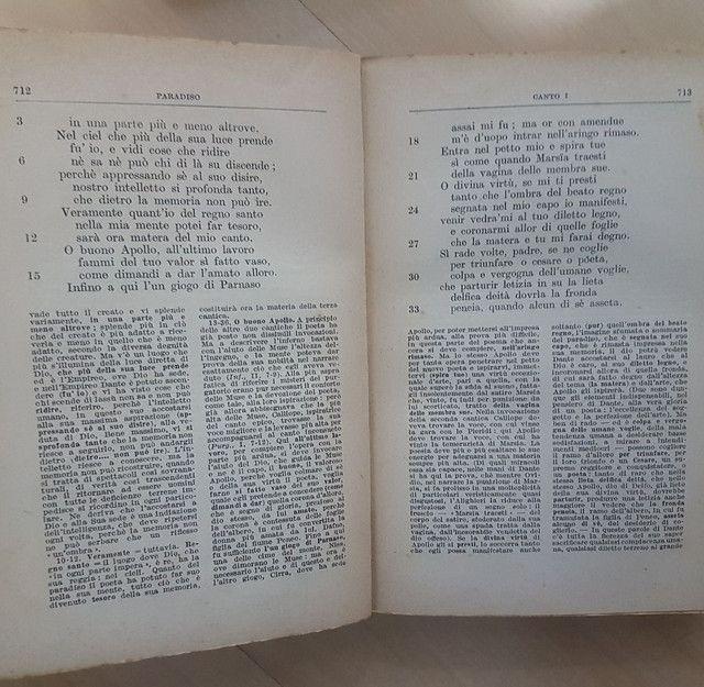 Liquidação! Divina Comédia em italiano, edição comentada de 1950 - Foto 5