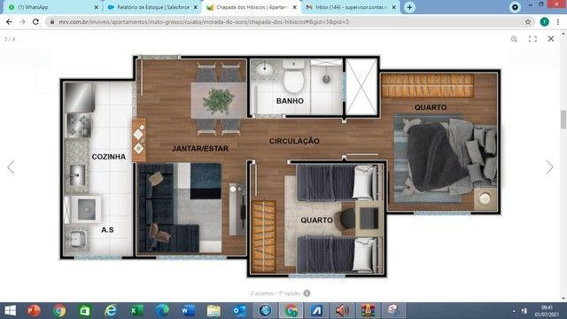 MRV Chapada dos Hibiscos Apartamento 2 quartos Morada do Ouro  - Foto 2