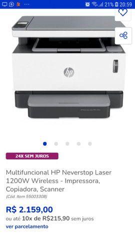 Impressora  Hp 1200W<br><br> - Foto 4