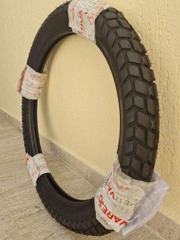 Pneu dianteiro Levorin by Michelin Duna Evo 90/90 r21 54P - XRE 300 - Foto 2