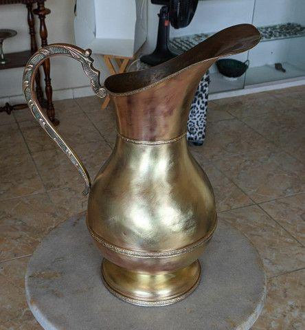 Linda jarra antiga material bronze e cobre - Foto 2