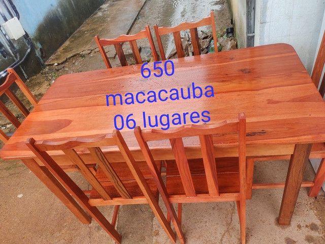 Mesa com 06 Lugares Nova macacauba