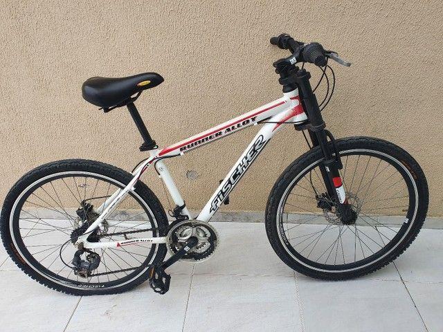 Bicicleta Aro 26 Freio Disco Fischer Runner Alloy Com Nota Fiscal - Foto 2