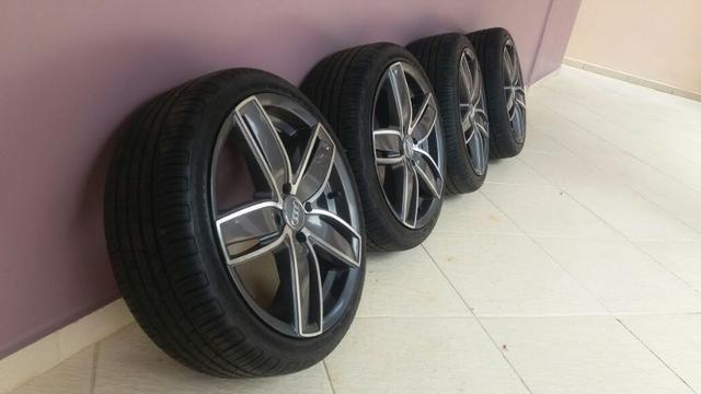 Jogo de Rodas Audi com pneus 205/40 17