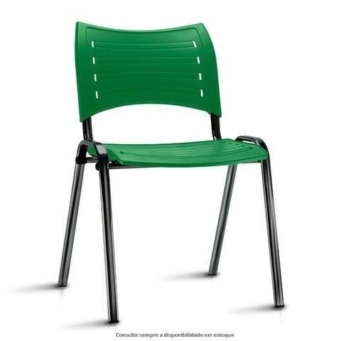Cadeira fixa empilhável polipropileno colorido modelo Iso à vista dinheiro - Foto 6