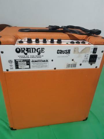 Vendo ou troco por pedal duplo Iron Cobra Amplificador Contra Baixo Orange 50 BXT - Foto 2