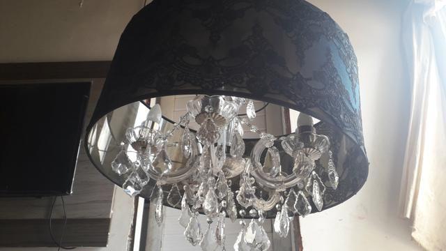 Lustre Mantra com 5 lampadas redoma estilo imperial - Foto 5