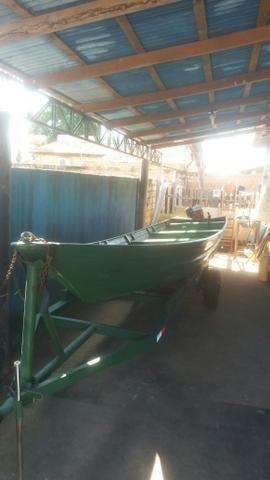 Canoa alumínio sem motor