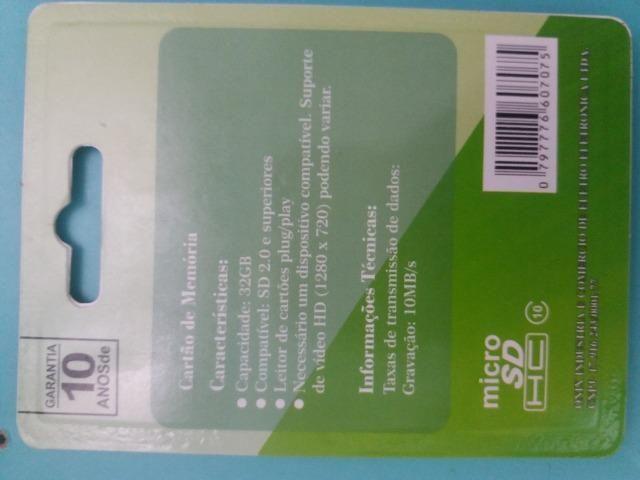 Cartão de memória Micro SD 32GB classe 10 - Foto 4