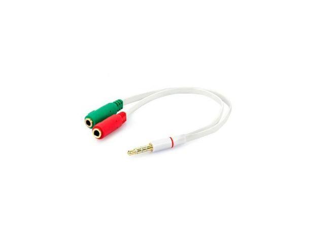 Cabo de Áudio P2 x 2 P2 Fêmea para Headset/Headfone