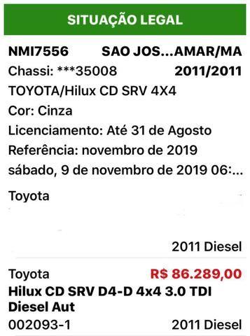 Hilux srv 11/11 Aut. 4x4 Diesel - Foto 9