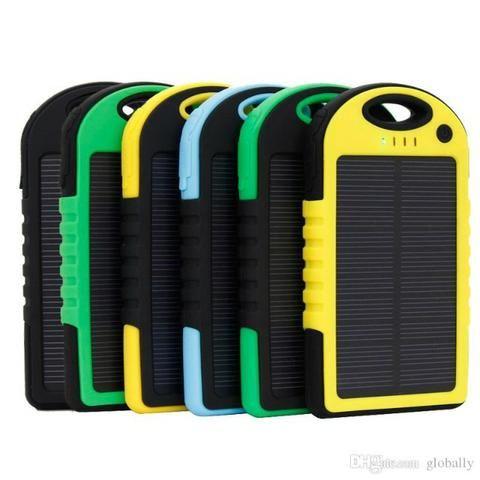 Carregador Bateria Externa Solar 8000 Mah Usb Celular Tablet