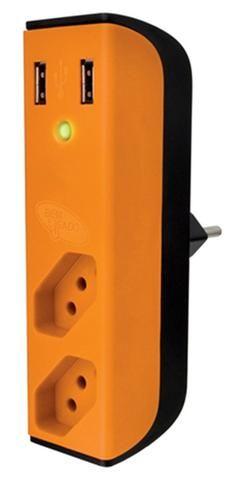 Carregador 2 portas usb c/ filtro de linha + 2 tomadas enermax- ananindeua aurá