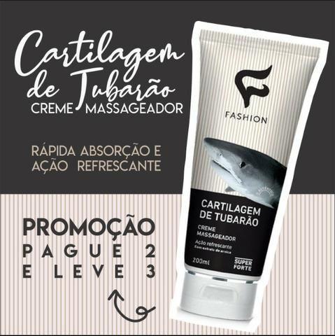 Gel Massagem Cartilagem de Tubarão Creme - Fashion - Foto 2