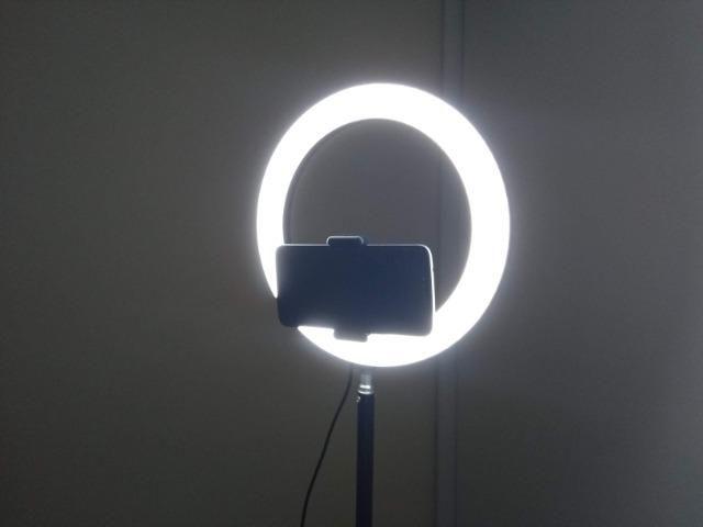 Ring Light 26cm + Tripé 1,60m + Tripé de mesa Entrega Grátis - Foto 3