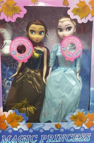 Bonecas Frozen 2 Kit Anna e Elsa Com Olaf Magic Princess - Foto 3