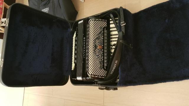 Gaita acordeon Scandalli S6 120 baixos italiana