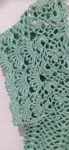 Blusa tecida em crochê - Foto 5