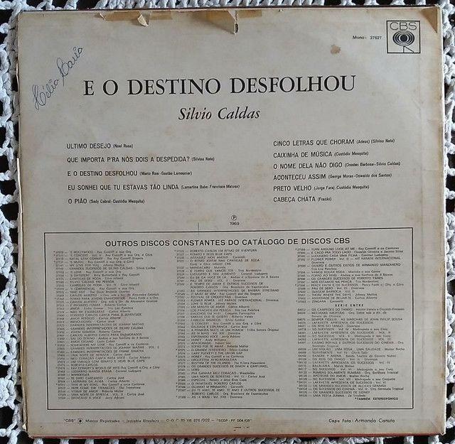 Lp Silvio Caldas E O Deztino Desfolhou 1969 disco vinil - Foto 4