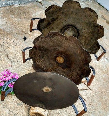 Disco arado alça de madeira