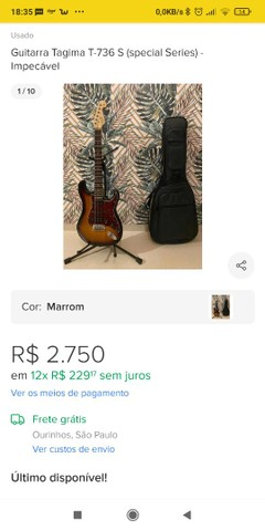 Guitarra Tagima T-736S + humbucker zonda malagoli (lançamento). Regulada por Luthier. - Foto 6