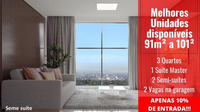 Apartamento Impecável, 3 Quartos Grandes, Sala Ampla, Lavabo e 2 Vagas - Foto 12