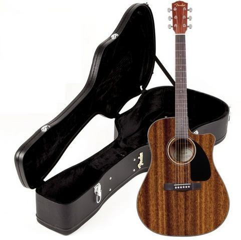 Violao Fender Elétrico Mahogany Dreadnought Cd60 C/ Case