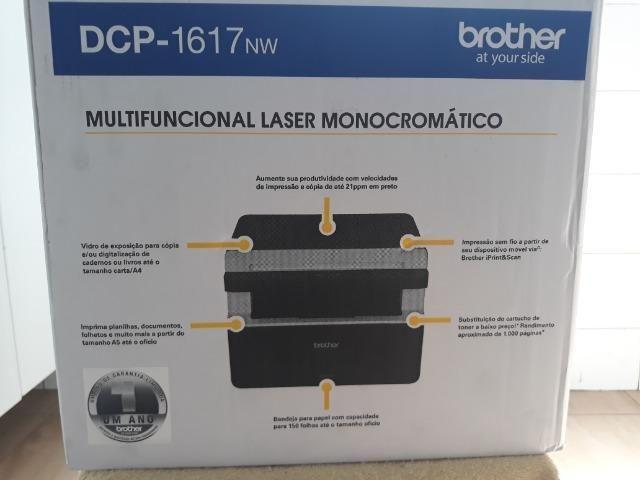 Impressora a laser Brother Modelo DCP-1617NW Nova sem uso na caixa e na  garantia