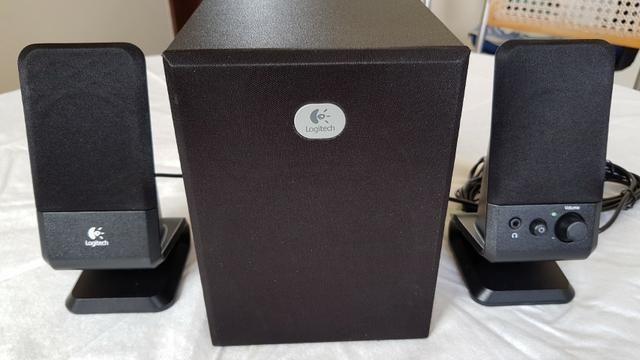Sistema de Caixas de Som Logitech 2.1 canais Modelo R-20 - Foto 5