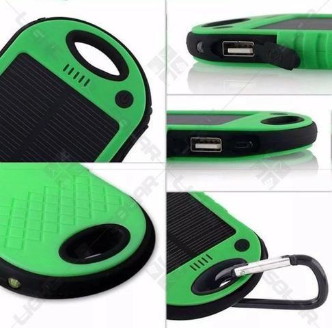 Carregador Bateria Externa Solar 8000 Mah Usb Celular Tablet - Foto 5
