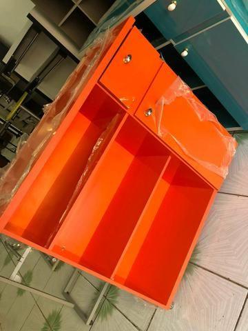 Balcão de atendimento laranja abobora laqueado - Foto 2