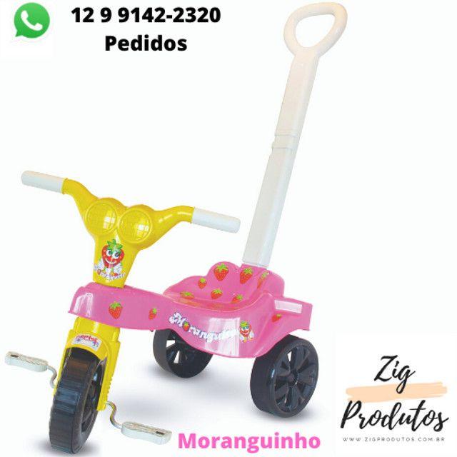 Triciclo Infantil Velocipe Bob Com Empurrador - Promoção Produtos Novos - Foto 3