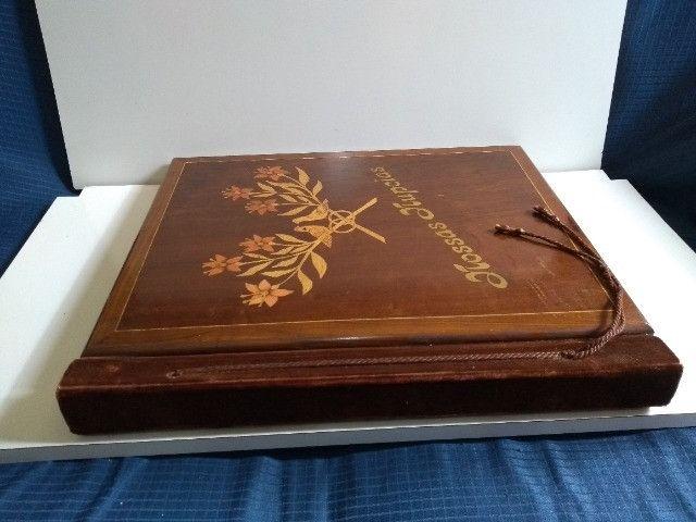 Álbum de Casamento Antigo de Madeira - Foto 5