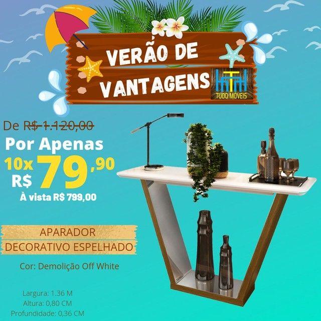 VERÃO DE VANTAGENS / APARADOR DECORATIVO ESPELHADO