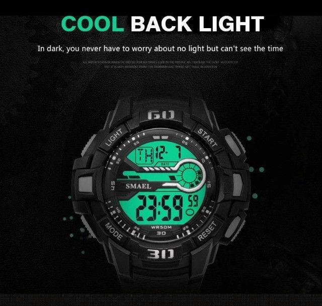Relógio Masculino Digital Smael 1513 Prova Dágua 50 Metros  - Foto 2