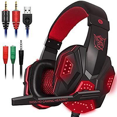 Fone spider Stereo Surround Gaming Headset Headphone com microfone cancelamento de ruído. - Foto 2