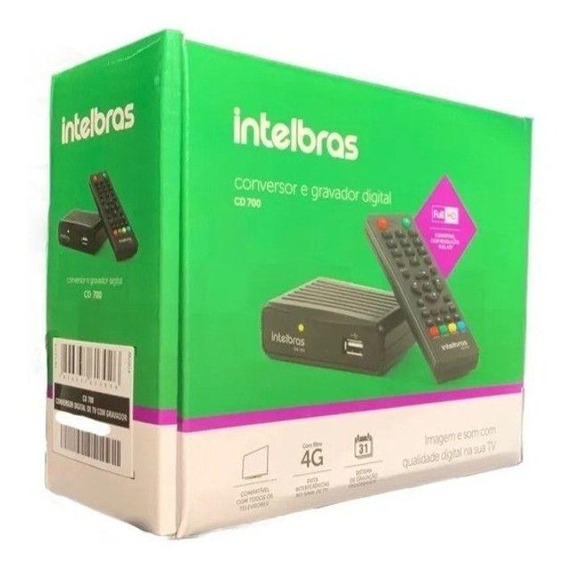 Conversor Digital De Tv Com Gravador Cd 700 Intelbras
