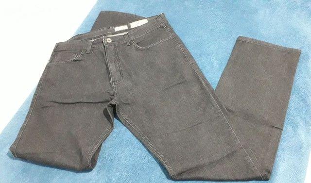 Calça jeans brim preta - Foto 2