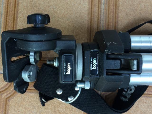 Tripé bogen para máquinas fotográficas e filmadoras - Foto 3