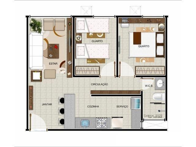 Apartamento, 2 quartos, andar térreo, nascente, Tabuleiro Do Martins, Maceió AL - Foto 12