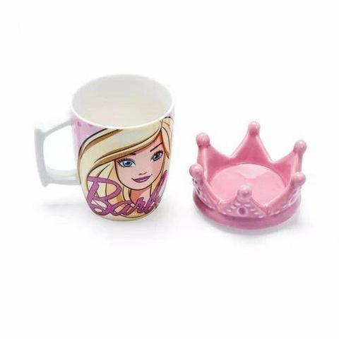 Caneca Barbie com coroa - Foto 2