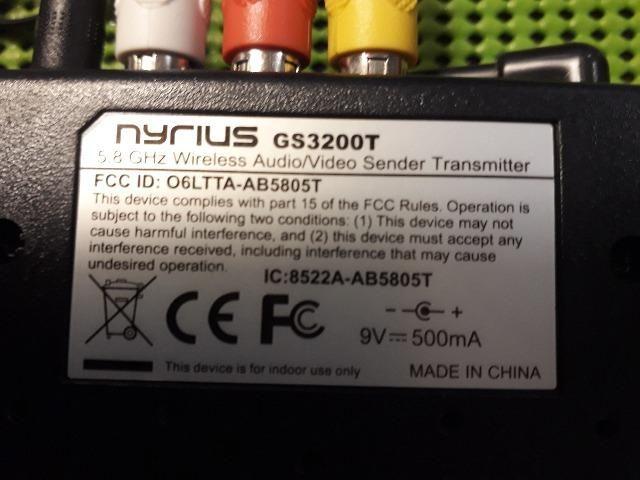 Transmissor E receptor Áudio Vídeo Wireless 5.8GHz - Foto 2
